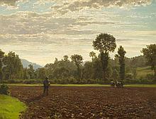 ZÜND, ROBERT(1826 Lucerne 1909)The sower.Oil on