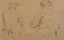 ANKER, ALBERT(1831 Ins 1910)Doubled-sided drawing