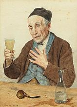 ANKER, ALBERT(1831 Ins 1910)The last absinthe.