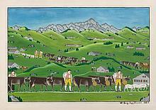 HUG, WERNER(1875 Schwellbrunn 1950)Alpfahrt. 1927.