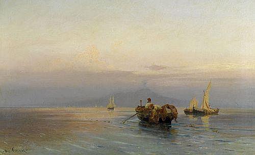 CALAME, ARTHUR (1843 Geneva 1919)Fishing boats in