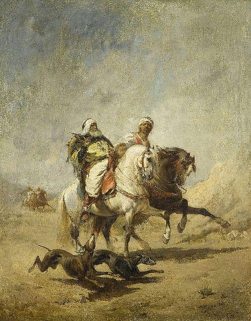 SICARD, NICOLAS (circa 1840 Lyon 1920)Two Bedouins