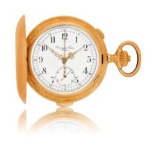 Audemars Freres pocket watch with 1/4 repeater and chronograph, ca. 1900.