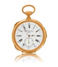 Pocket watch, Grand Sonnerie, 1/4 -repeater, Fred. Julien Sagne, ca. 1860.