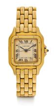 Cartier, Lot of 3 watches: Panthere Gold, Must 21, travel clock with alarm.