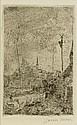 ENSOR, JAMES (1860 Ostende 1949). Chaumières,