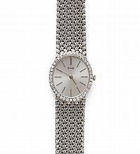 DIAMOND LADY'S WRISTWATCH, PIAGET, 1970s.White