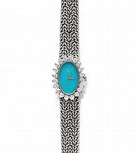 DIAMOND LADY'S WRISTWATCH, CHOPARD, 1970s.White