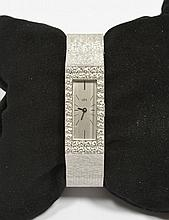 DIAMOND LADY'S WRISTWATCH, UTI, ca. 1960.White