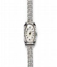 DIAMOND LADY'S WRISTWATCH, TIFFANY & Co., ca.