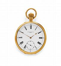 POCKET WATCH, PATEK PHILIPPE, ca. 1890.Yellow gold