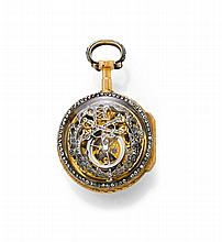 DIAMOND SKELETON VERGE WATCH, THUILLIER, Geneva,