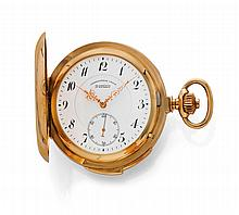 SAVONNETTE POCKET WATCH, 1/4 REPEATER, GLASHÜTTE,