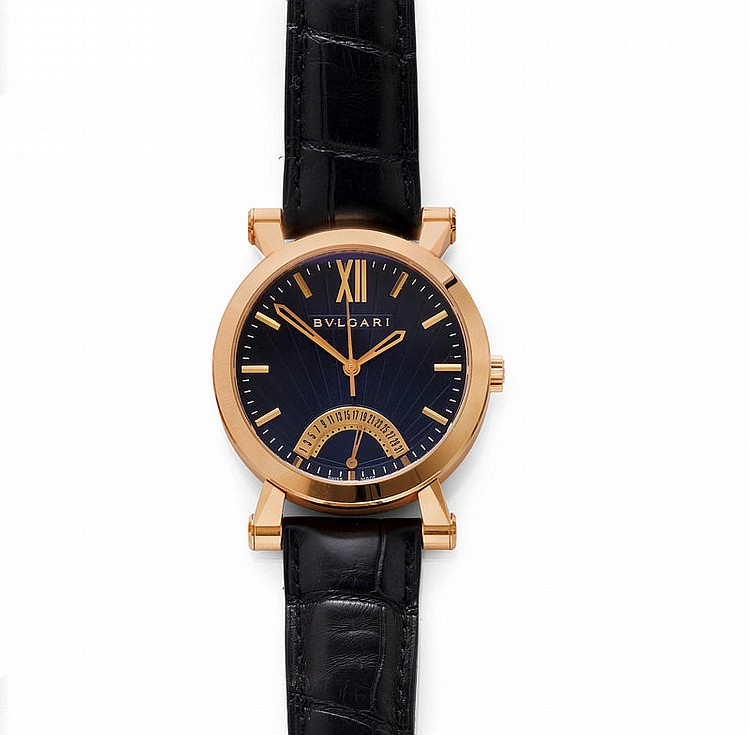 GENTLEMAN'S WRISTWATCH, AUTOMATIC, RETROGRADE,
