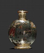 EMILE GALLEFLAKON, um 1880Beiges Glas emailliert.