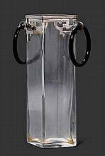 ANONYME ARBEITVASE, um 1930Glas mit Metallmontur