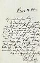 Mahler, Gustav, Komponist (1860-1911). Eigenh.