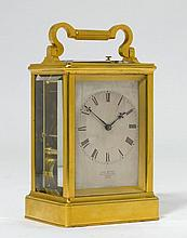TRAVEL CLOCK WITH CASE, England, early 19th