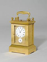 TRAVEL ALARM CLOCK,France, 19th century. Dial