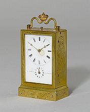 SMALL TRAVEL ALARM CLOCK,France, dial and movement