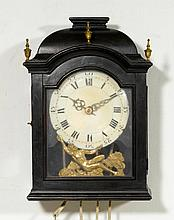 WALL CLOCK,Baroque, Neuchâtel, early 18th century.