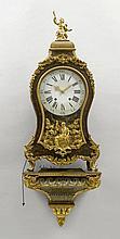 A LARGE BOULLE CLOCK ON PLINTH, Regency, probably
