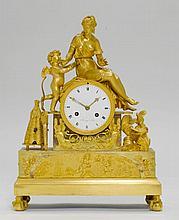 MANTLE CLOCK,Empire, Paris ca. 1810/15. The dial