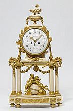 PORTAL CLOCK WITH DATE,Louis XVI, Paris ca. 1780.