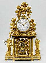 LARGE PORTAL CLOCK WITH DATE,late Louis XVI,