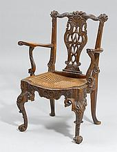 BUREAU-FAUTEUIL,in the Baroque style, Liège, 19th