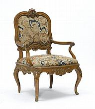 ARMCHAIR,Baroque style, German, partially using