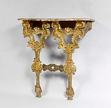 CONSOLE, Baroque style, Italy, made from older