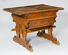BOX TABLE,from the Alpine region, probably
