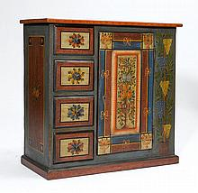 SMALL PAINTED 'SCHAFREITE' CUPBOARD,Toggenburg, in