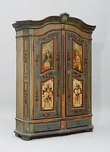 PAINTED CUPBOARD, Austria or Bavaria, probably Inn