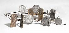 LOT OF 3 WAFFLE IRONS,inscribed and dated 1282,