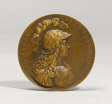 'LOUIS XIV' MEDAL,inscribed VARIN and dated 1674,