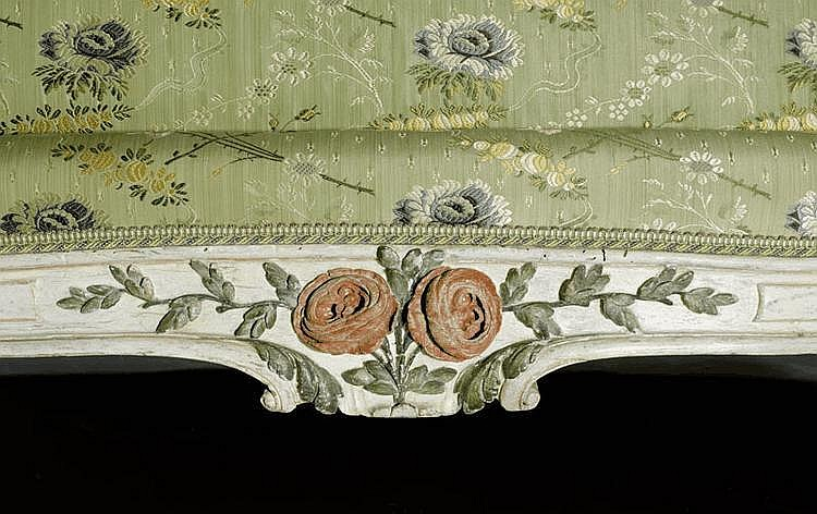 Painted 39 lit a la turque 39 louis xv paris circa for Lit louis xv