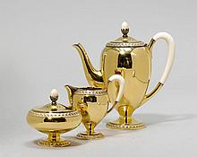 SILVER-GILT COFFEE SERVICE,Germany, after 1888.