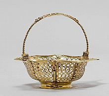 SILVER-GILT BASKET,probably England, 18th century.