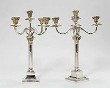PAIR OF CANDELABRAS,Germany, after 1888. With