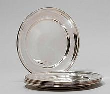 6 UNDERPLATES,20th century.Smooth, round form. D