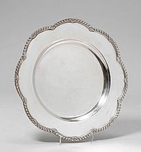 PLATTER,20th century.Curved, round form with