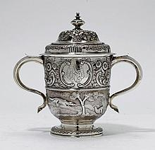 GOBLET AND COVER,London 1733/34. Maker's mark: