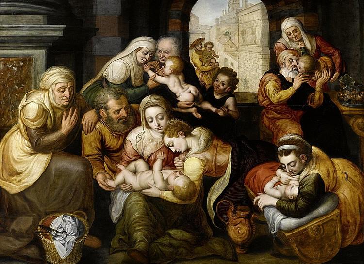 FLORIS, FRANS (1516 Antwerp 1570) Saint Sippe.