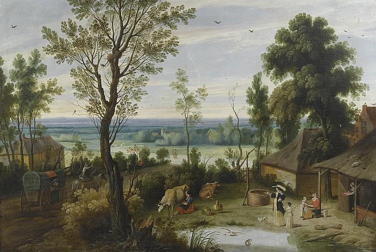 WILDENS, JAN (1586 Antwerp 1653) Landscape with an