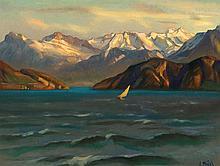 HODEL, ERNST(Bern 1881 - 1955 Luzern)Weggis mit