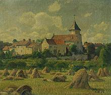 GRÜN, MAURICE(1869 Reval 1947)Haystack before a