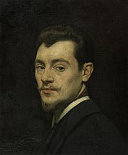 GRÜN, MAURICE(1869 Reval 1947)Self-portrait.Oil on