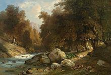 DUNANT, JACQUES(1825 Geneva 1870)Forest landscape